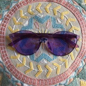 Frameless purple glasses